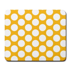 Sunny Yellow Polkadot Large Mouse Pad (rectangle)