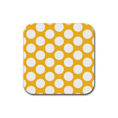 Sunny Yellow Polkadot Drink Coasters 4 Pack (Square)