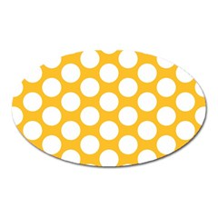 Sunny Yellow Polkadot Magnet (oval)