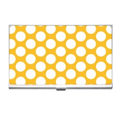 Sunny Yellow Polkadot Business Card Holder