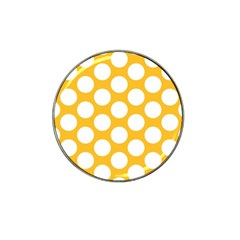 Sunny Yellow Polkadot Golf Ball Marker 4 Pack (for Hat Clip)