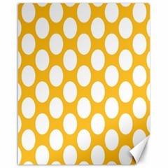 Sunny Yellow Polkadot Canvas 16  x 20  (Unframed)