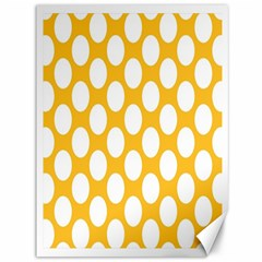 Sunny Yellow Polkadot Canvas 36  x 48  (Unframed)