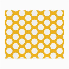 Sunny Yellow Polkadot Glasses Cloth (Small, Two Sided)
