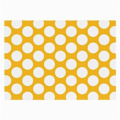Sunny Yellow Polkadot Glasses Cloth (Large, Two Sided)