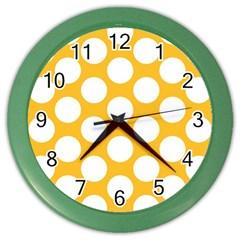 Sunny Yellow Polkadot Wall Clock (Color)