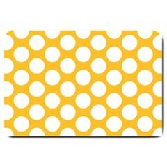 Sunny Yellow Polkadot Large Door Mat