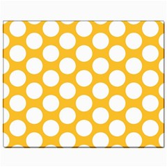 Sunny Yellow Polkadot Canvas 11  x 14  (Unframed)