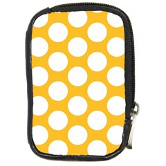 Sunny Yellow Polkadot Compact Camera Leather Case