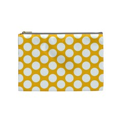 Sunny Yellow Polkadot Cosmetic Bag (medium)