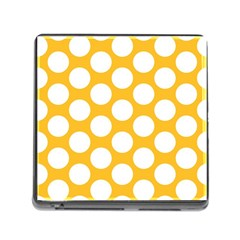 Sunny Yellow Polkadot Memory Card Reader With Storage (square)