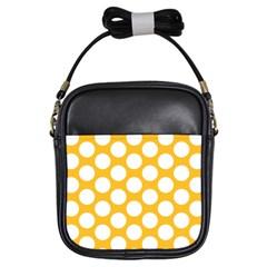 Sunny Yellow Polkadot Girl s Sling Bag