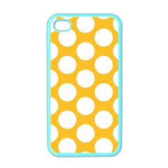 Sunny Yellow Polkadot Apple Iphone 4 Case (color)