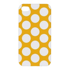 Sunny Yellow Polkadot Apple iPhone 4/4S Premium Hardshell Case