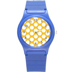 Sunny Yellow Polkadot Plastic Sport Watch (Small)