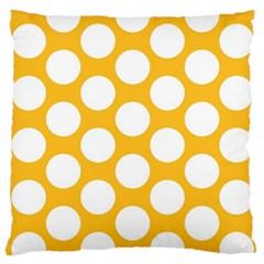 Sunny Yellow Polkadot Large Cushion Case (Single Sided)