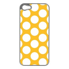 Sunny Yellow Polkadot Apple iPhone 5 Case (Silver)