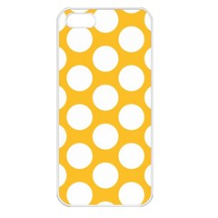 Sunny Yellow Polkadot Apple Iphone 5 Seamless Case (white)