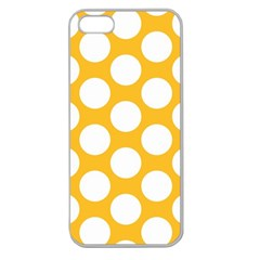 Sunny Yellow Polkadot Apple Seamless Iphone 5 Case (clear)