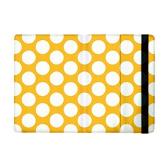 Sunny Yellow Polkadot Apple Ipad Mini Flip Case