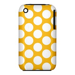 Sunny Yellow Polkadot Apple iPhone 3G/3GS Hardshell Case (PC+Silicone)