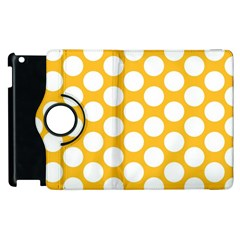 Sunny Yellow Polkadot Apple iPad 2 Flip 360 Case