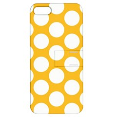 Sunny Yellow Polkadot Apple iPhone 5 Hardshell Case with Stand