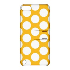 Sunny Yellow Polkadot Apple Ipod Touch 5 Hardshell Case With Stand