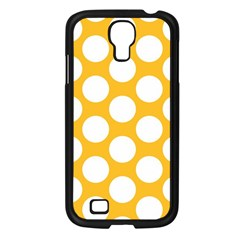 Sunny Yellow Polkadot Samsung Galaxy S4 I9500/ I9505 Case (Black)