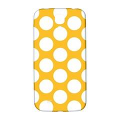 Sunny Yellow Polkadot Samsung Galaxy S4 I9500/I9505  Hardshell Back Case