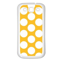 Sunny Yellow Polkadot Samsung Galaxy S3 Back Case (white)