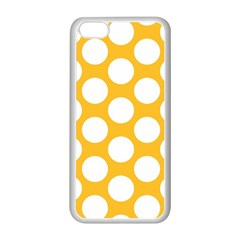 Sunny Yellow Polkadot Apple Iphone 5c Seamless Case (white)
