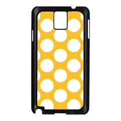 Sunny Yellow Polkadot Samsung Galaxy Note 3 N9005 Case (black)
