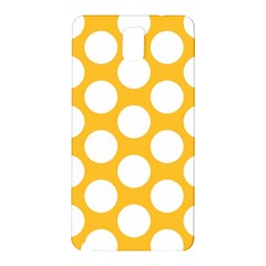 Sunny Yellow Polkadot Samsung Galaxy Note 3 N9005 Hardshell Back Case