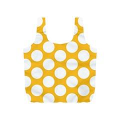 Sunny Yellow Polkadot Reusable Bag (S)