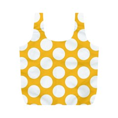 Sunny Yellow Polkadot Reusable Bag (M)