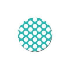Turquoise Polkadot Pattern Golf Ball Marker 4 Pack