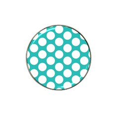 Turquoise Polkadot Pattern Golf Ball Marker 4 Pack (for Hat Clip)