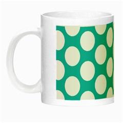 Turquoise Polkadot Pattern Glow in the Dark Mug