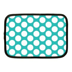 Turquoise Polkadot Pattern Netbook Sleeve (medium)