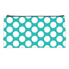 Turquoise Polkadot Pattern Pencil Case