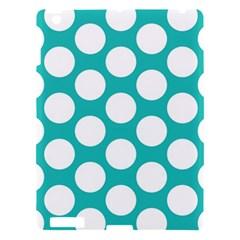 Turquoise Polkadot Pattern Apple Ipad 3/4 Hardshell Case
