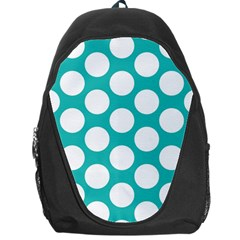 Turquoise Polkadot Pattern Backpack Bag