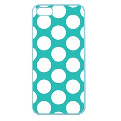 Turquoise Polkadot Pattern Apple Seamless iPhone 5 Case (Color)
