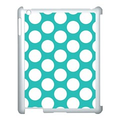 Turquoise Polkadot Pattern Apple Ipad 3/4 Case (white)