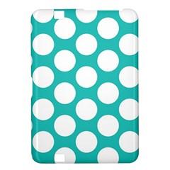 Turquoise Polkadot Pattern Kindle Fire HD 8.9  Hardshell Case