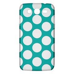 Turquoise Polkadot Pattern Samsung Galaxy Mega 5 8 I9152 Hardshell Case