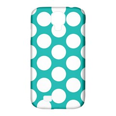Turquoise Polkadot Pattern Samsung Galaxy S4 Classic Hardshell Case (PC+Silicone)