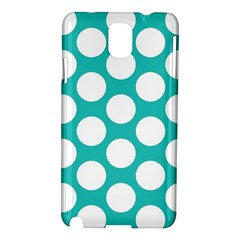 Turquoise Polkadot Pattern Samsung Galaxy Note 3 N9005 Hardshell Case