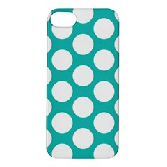 Turquoise Polkadot Pattern Apple iPhone 5S Hardshell Case